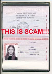 Russian brides scams